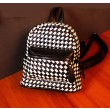 Handwork Weave Glossy Grid Fashion Backpacks