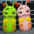 Shy Caterpillar Silicone Super Cute Lovely IPhone 4/4s/5/5s/6/6p Cases