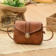 Fashion Mini Black Brown Button Women Messenger Bag Shoulder Bags