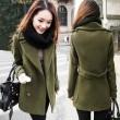 Vintage Button Cloak Women Woolen Coat
