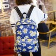 Fresh Printing Chrysanthemum Butterfly Denim Backpack