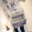 Unique School Splicing PU Crocodile Grained Leather Large Capacity Backpack