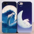 Cute Rabbit Deer Moon Iphone4/5/6 Cases