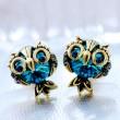 Original Cute Owl Crystal Earrings