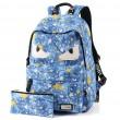 New Star Printing Little Monster School Bag Graffiti Canvas Backpack