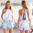 Sexy Backless Fashion Stripe One Piece Romper&Jumpsuit