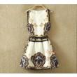 Classic Style Retro Sleeveless Female Vest Skirt