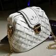 Weave Grid Retro Chain Shoulder Bags