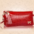 Soild Bow Crocodile Pattern Multifunctional Clutches