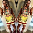 Retro Flower Fashion Printing Dress