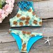 Sexy Tank Swimsuit Suit Bathing Swimwear New Pineapple Printing Bikini Set