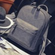 Retro Frosted Thread Geometric Pattern Leisure Simple School Backpack