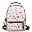 Sweet Cartoon PU Tower Bridge Rainbow Students Schoolbag Zipper Backpack
