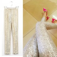 Sexy Bling Hand Made Sequined Pants Leggings