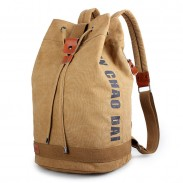 Leisure Large Capacity Canvas Sports Backpack Bandage Travel Rucksack School Bag Men's Bucket Backpack