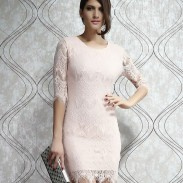 Unique Light  Pink Slim Lace Dress &Party Dress