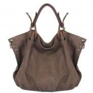 Ladies Original Leisure Simple Solid Canvas Hobo Handbag Crossbody Shoulder Bag
