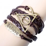 Believe Deathly Hallows Infinity Bracelet