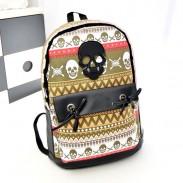 Fashion Graffiti Geometry Skull Personalized Backpack