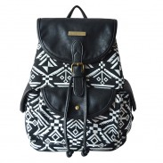 Folk Style Totem Geometry Backpack Student Book Bag