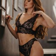 Sexy Lace Deep V Bra Panty 2 Piece Set Underwear Hollow Flower Women's Lingerie