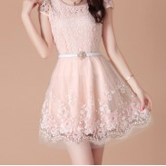 Fresh Summer Organza Lace Dress