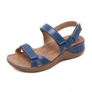 Retro Non-slip Beach Stitching Flats Summer Shoes Women's Sandals