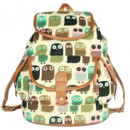 Cute Owl Printing Leisure Backpack