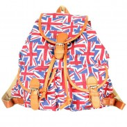 Folk Style British flag Printed Backpack
