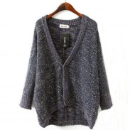 Loose Mohair Sequin Cardigan Sweater Coat