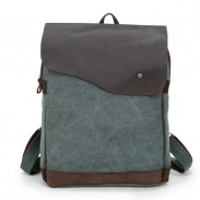 Retro Square Zipper Large Capacity Satchel Canvas School Bag Travel Backpack