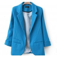 Candy Color Long Sleeve Lapel Suit Jacket