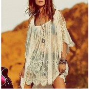 Unique Sexy Crochet Lace Strapless Dress