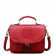 Retro Embossing Shoulder Bag Messenger Bag