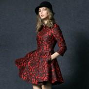 New Season Elegant Bead Slim Printed Dress