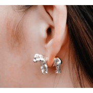 Gorgeous 3D Gorilla Animal Earrings stud