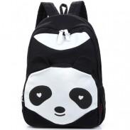 Cartoon Cute Panda School Rucksack Animal College Canvas Backpack