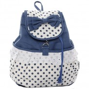 Fresh Sweet  Dot Lace Bow Backpack
