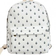 Fashion Navy Anchor Canvas Backpack