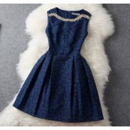 Unique Jacquard Beading Rhinestone Embroidered Dress &Party Dress