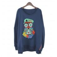 Lovely Cartoon owl Flower Sleeved Sweater&Shirt