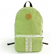Fresh Floral Print Lace Canvas Backpack