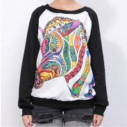 Lovely Cartoon Horse Symphony Sleeve Sweater