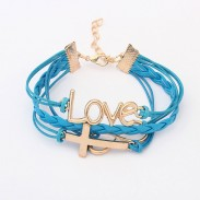 Romantic Password Love Cross Infinity Bracelet