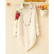 Fashion Hollow Out Crochet Irregular knit &Cardigan