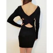 Sexy Halter Cross Straps Crochet Slim Stretch Sweater&Sweater Dress