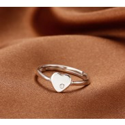 Creative Sterling Silver Eternal Love Rhinestone Ring