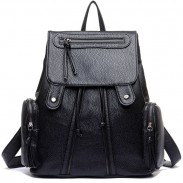 New Leisure Women's Rucksack Leather Shoulder School Bag Travel Backpack
