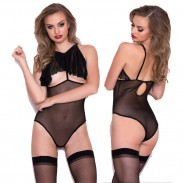 Sexy Conjoined Underwear Women Mesh Perspective Intimate Lingerie