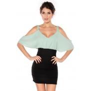 Simple Strapless Sling Dress OL Dress